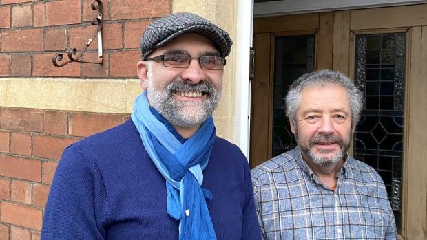 Dunkerry Road residents Mo Salehan and his partner Paul