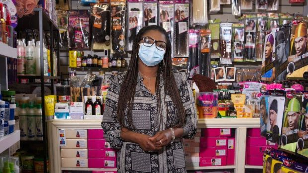 Abolore Eneh, known as Lore, who owns and runs the AB Salon in Colchester