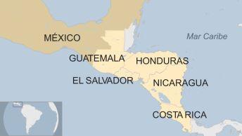Resultado de imagen para guatemala honduras el salvador mapa