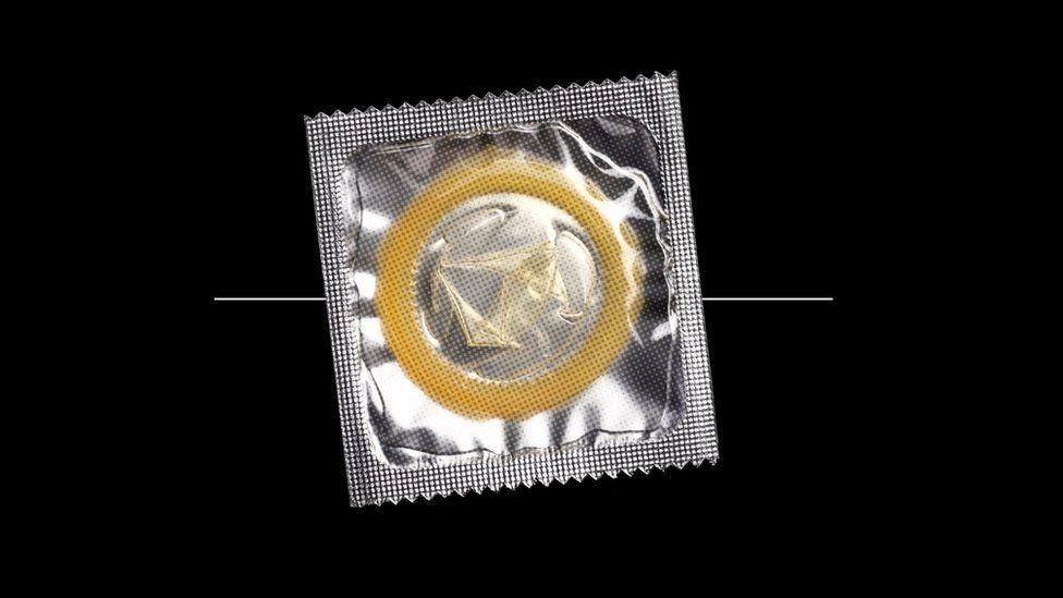 Graphic of a condom