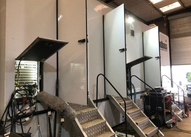 The Outside Broadcast scanner unit, which houses the 19 camera units on wildlife watch