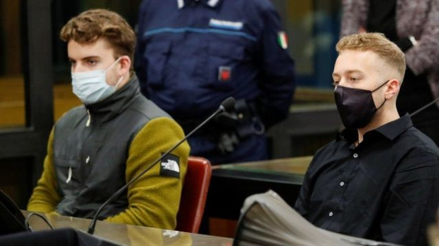 Finnegan Lee Elder and Gabriel Natale-Hjorth are pictured in court