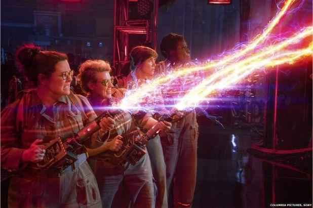 Melissa McCarthy, Kate McKinnon, Kristen Wiig and Leslie Jones in Ghostbusters