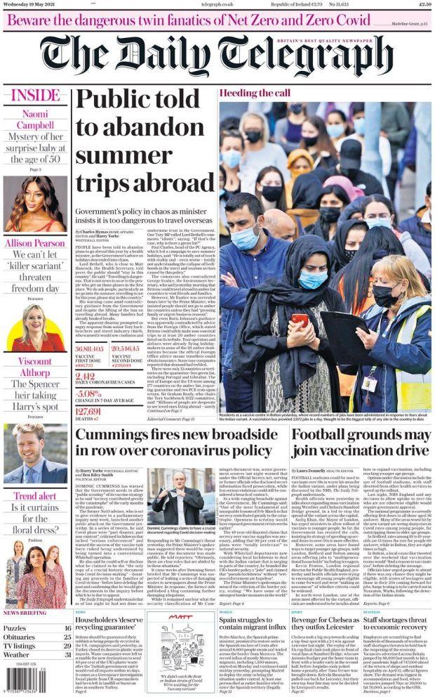 The Daily Telegraph 19 May