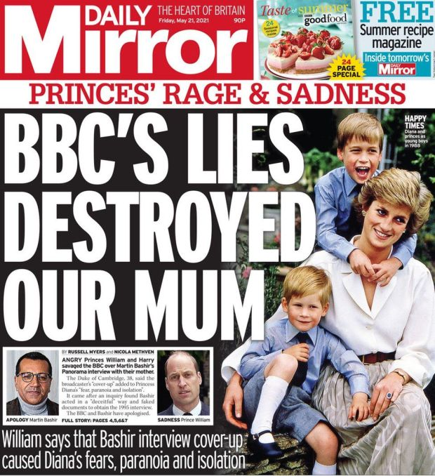 The Daily Mirror 21 May