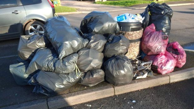 Rubbish collected in Shifnal on Saturday