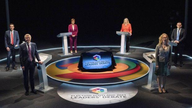 Leaders at the debate