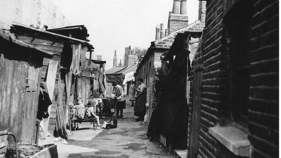 1934'te Londra'da gecekondu