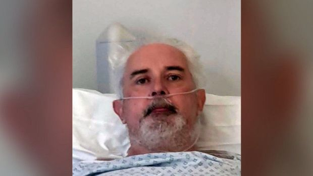 Alan Mitchell in hospital