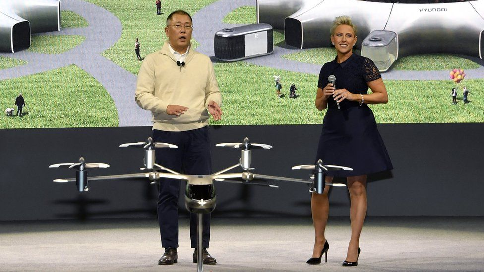 Hyundai chairman Euisun Chung at the Consumer Electronics Show in Las Vegas in 2020
