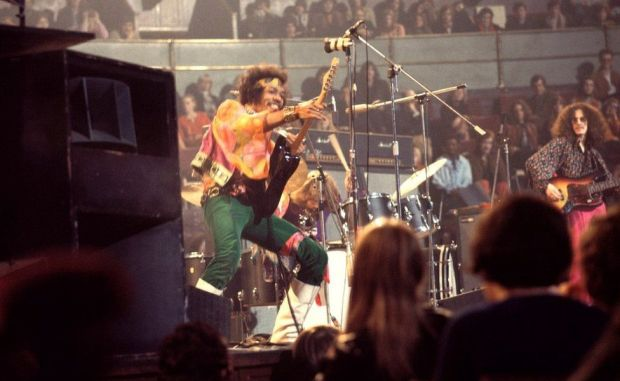 The Jimi Hendrix Experience at the Royal Albert Hall in London on 24th February 1969