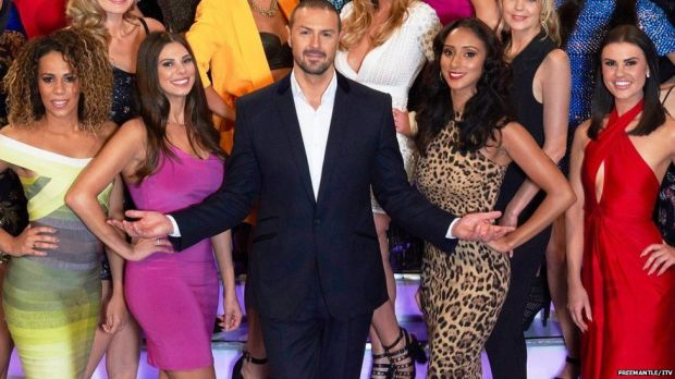 Paddy McGuinness with some Take Me Out contestants