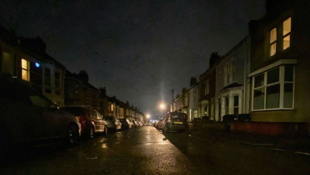 Night shot of Dunkerry Road in South Bristol