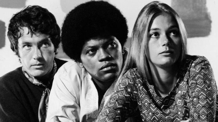 Michael Cole, Clarence Williams III and Peggy Lipton as they appeared in The Mod Squad