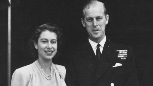Engagement picture of Prince Philip and Princess Elizabeth