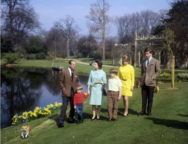 The Queen and Philip and their four children