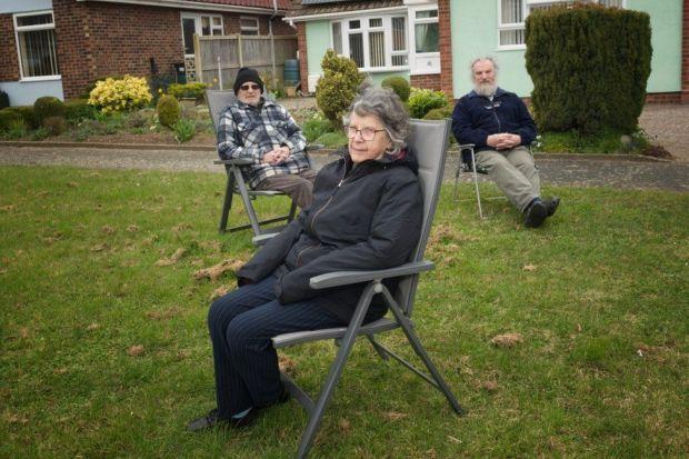(l-r) Roy, Laithwaite, Pat Laithwaite and Tim Smith