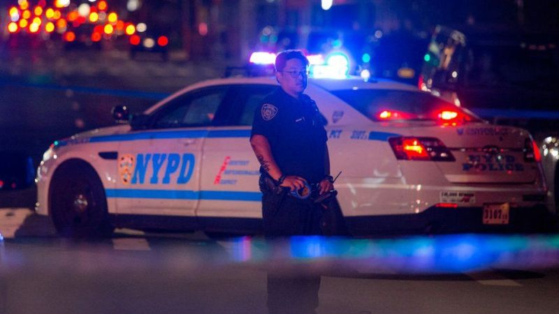 NYPD at the scene of a shooting