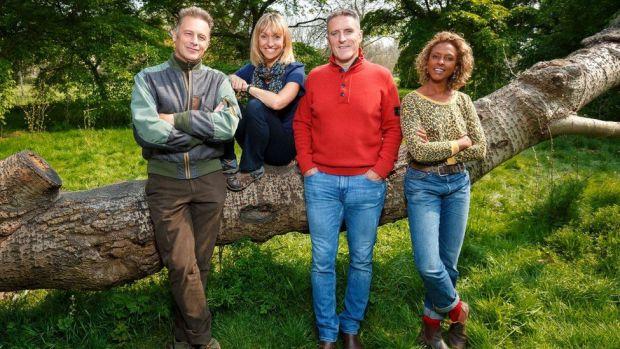 Springwatch presenters Chris Packham, Michaela Strachan, Gillian Burke and Lolo Williams