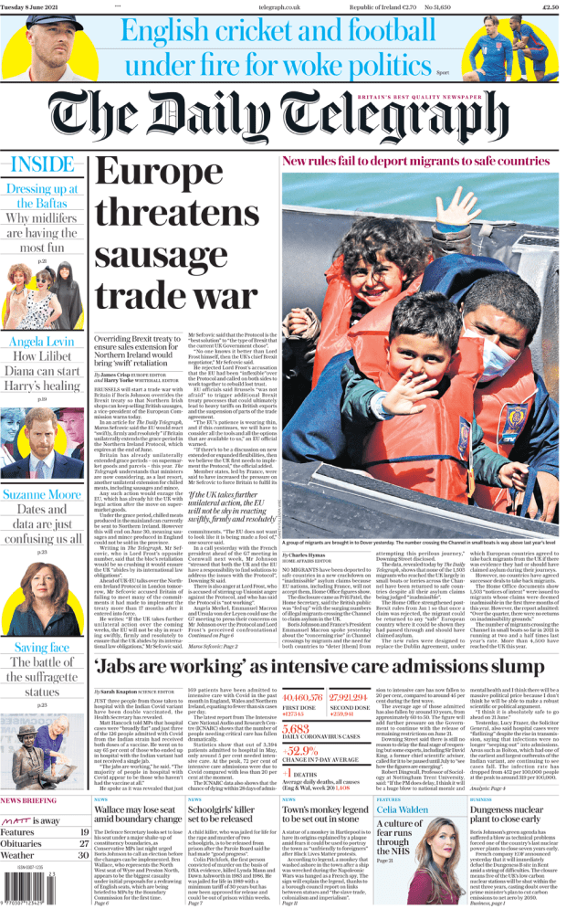 Daily Telegraph Tuesday