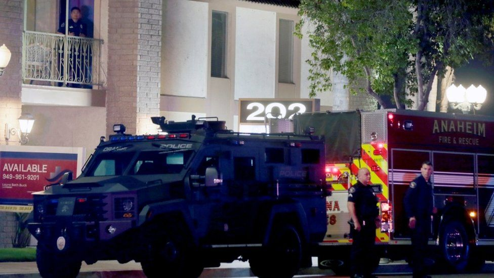 Child among four dead' in shooting at office building in Orange, California  - BBC News