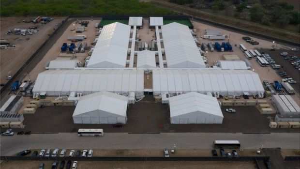 A temporary tent facility in Texas is holding some 1,000 children