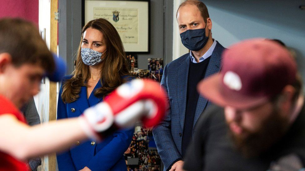 Prince William and Kate visited a violence reduction unit in Prestonpans, near Edinburgh, on Monday