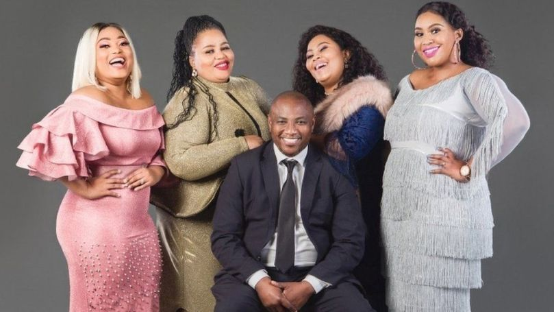 Musa Mseleku surrounded by his four wives