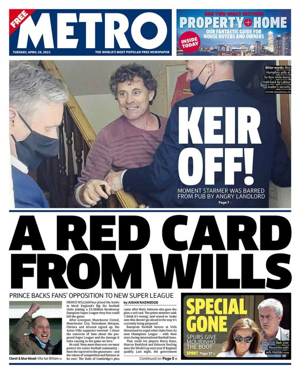 Metro front page 20.04.21