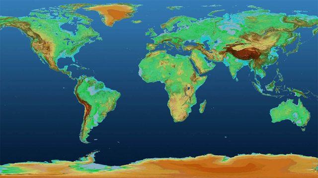 Mapa de la superficie terrestre
