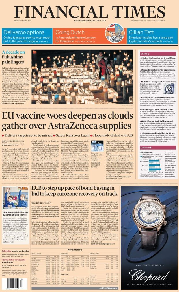 The Financial Times 12 March