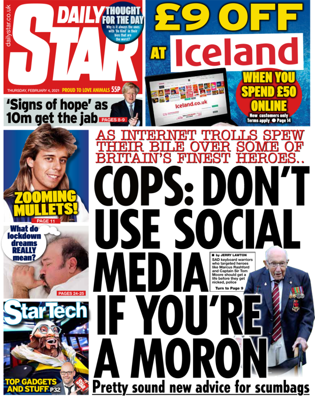 Daily Star front page