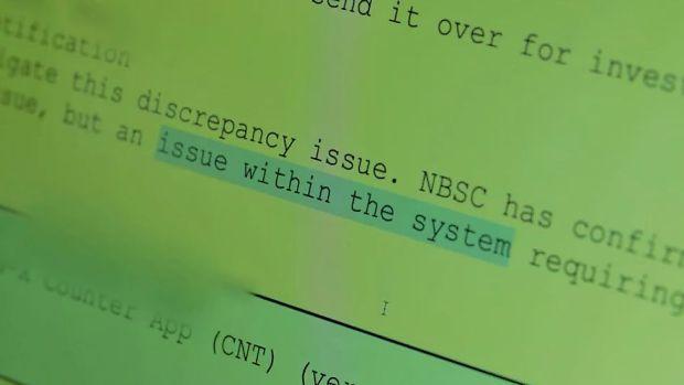 PEAK error report about the Horizon system.