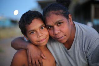 Dujuan Hoosan and his mother, Megan