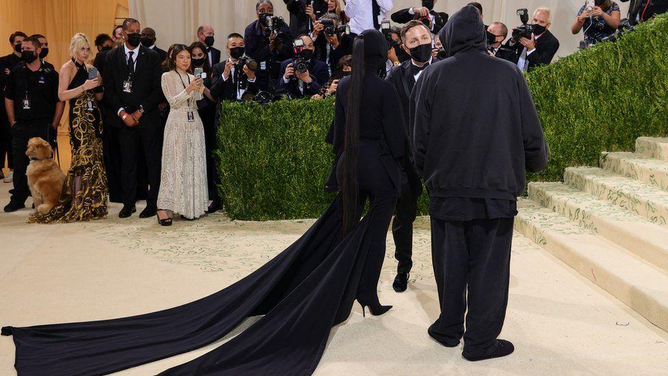 Kim Kardashian arrives at the Met Gala