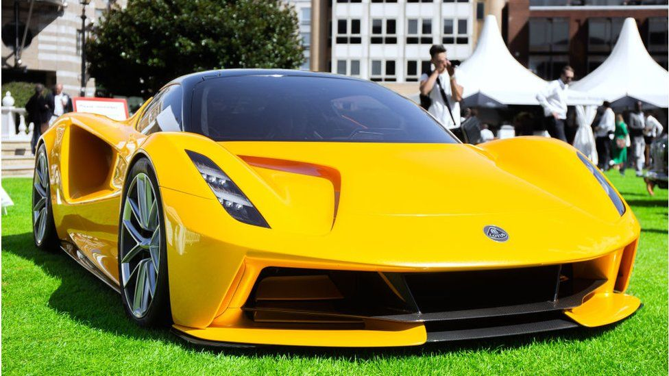 The Lotus Evija is a limited production electric sports car.