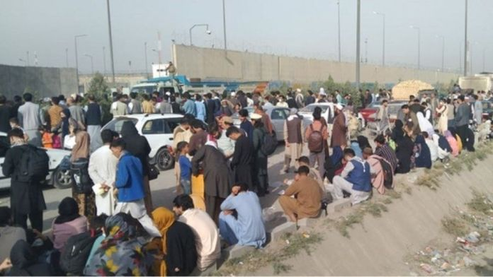 A stampede at a gate to the airport in Kabul injured 17 people on Wednesday, August 18, according to reports citing a Nato official