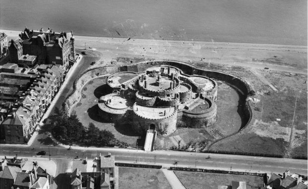 An aerial view of Deal Castle, Deal, Kent, taken in April 1948