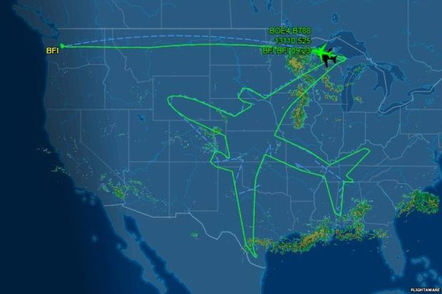 Another map of the flight