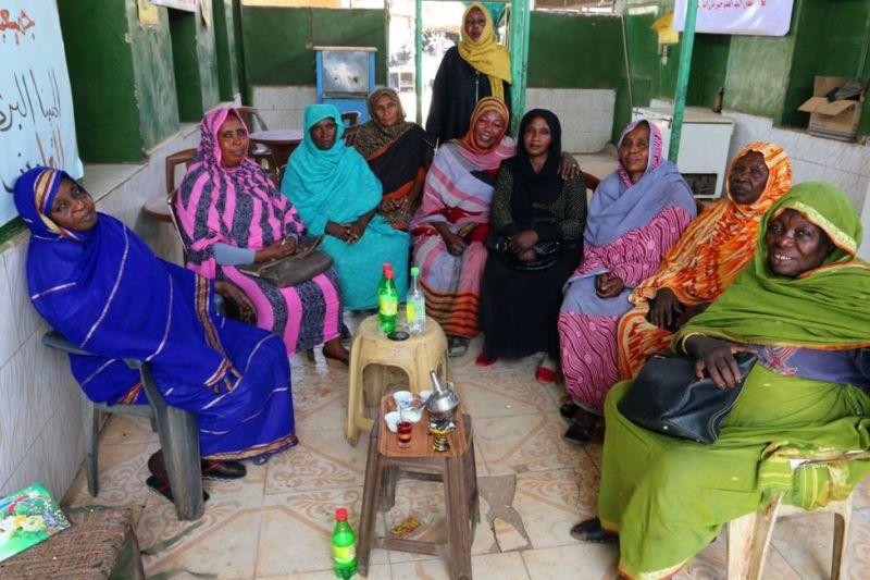 Sudanese tea ladies in Khartoum