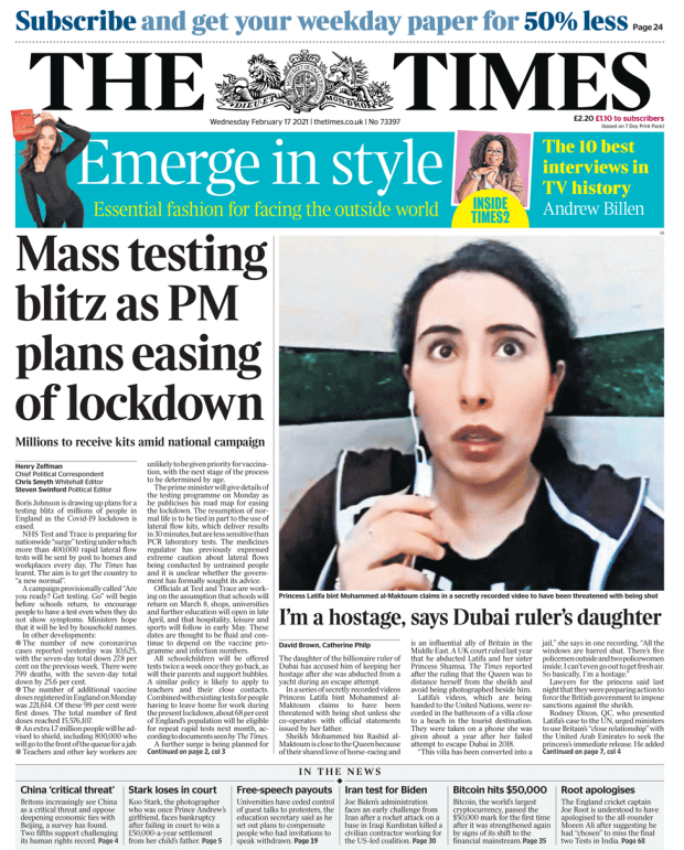 The Times 17 February 2021