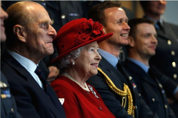 A proud grandfather, the duke visited Prince William's search and rescue base at RAF Valley, Holyhead