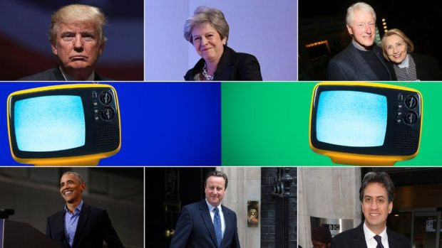 Politicians and TV montage