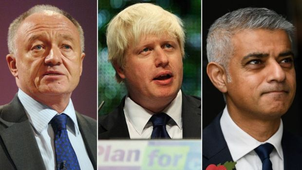 Ken Livingstone, Boris Johnson and Sadiq Khan