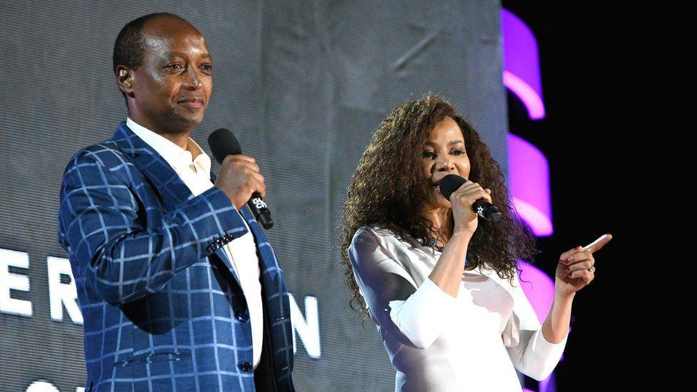 Patrice Motsepe and his wife, Dr. Precious Moloi-Motsepe