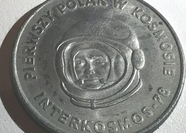 Renata's Polish 20 zloty coin featuring Polish cosmonaut Miroslaw Hermaszewski