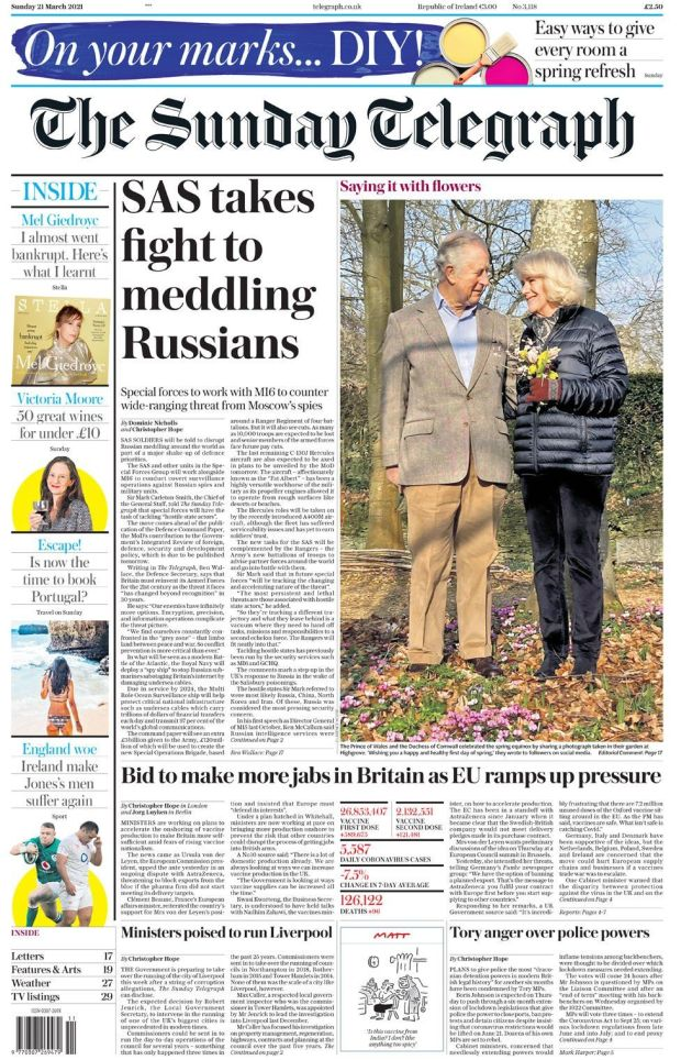 The Sunday Telegraph 21 March