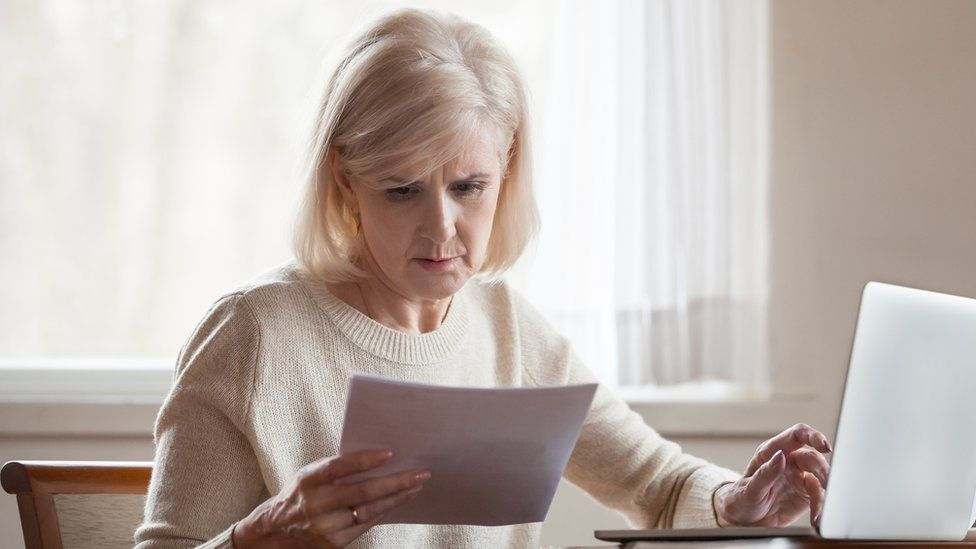Woman frustrated with domestic bill