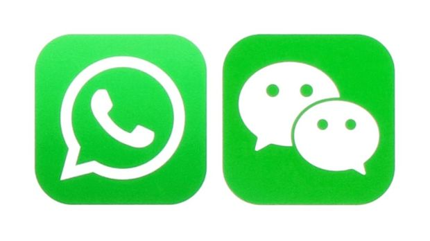 Whatsapp and WeChat logos