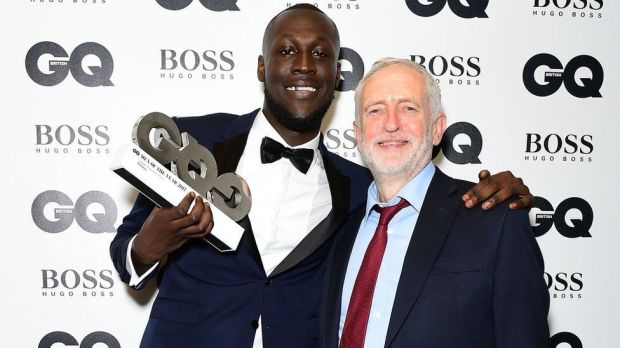 Stormzy and Jeremy Corbyn